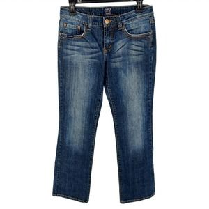 Cowgirl Up Jeans Don't Fence Me In Slim Bootcut 6